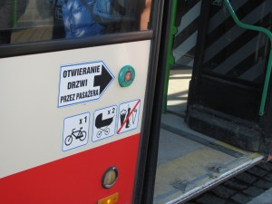 bikes on bus sign
