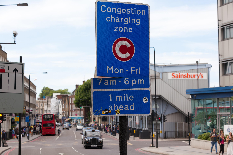 congestion zone in London