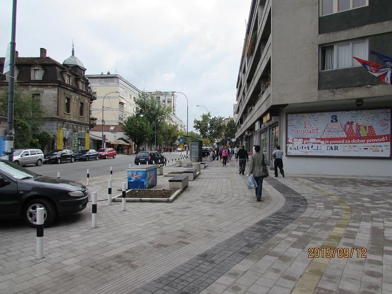 widening sidewalk