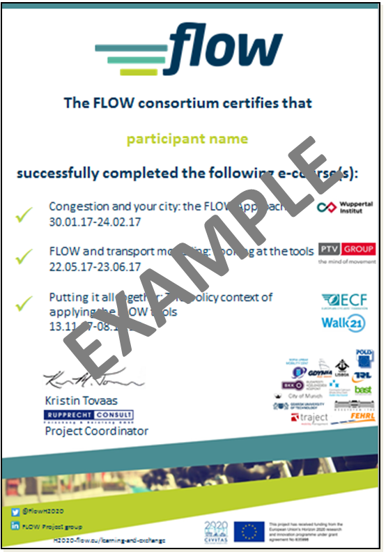 FLOW Certificate of Completion