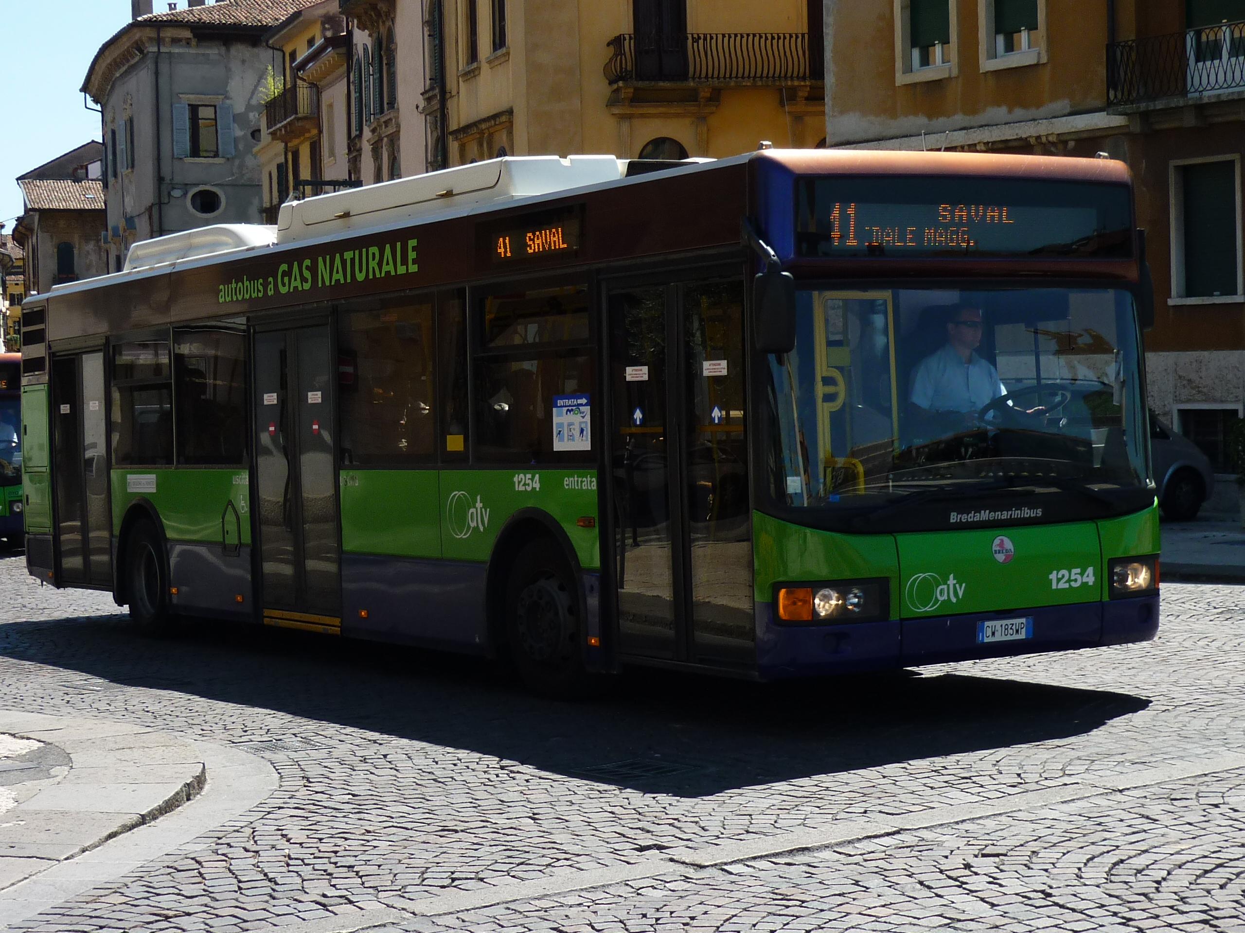 CNG bus in Verona